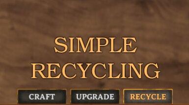 Simple Recycling - Простая переработка