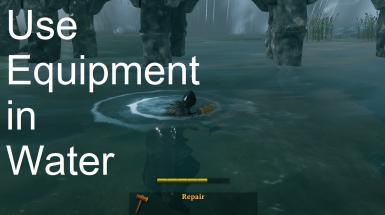 Use Equipment in Water - Используйте оборудование в воде