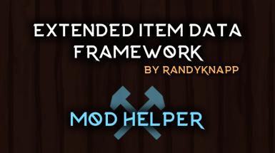 Extended Item Data Framework - Расширенная структура данных об элементах