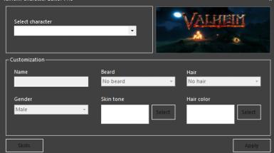 Valheim Character Editor - Редактор персонажей