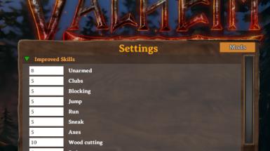 Mod Settings UI - Пользовательский интерфейс настроек мода